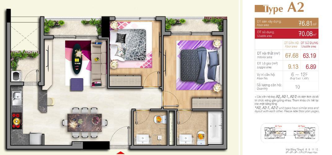 Bán căn hộ Urban Hill quận 7 diện tích 76.81m2