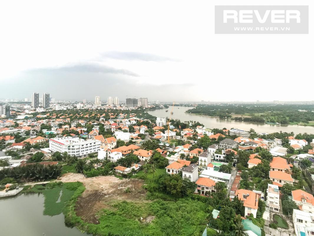 View ban công Cho thuê căn hộ Masteri Thảo Điền 2PN, tháp T4, diện tích 70m2, đầy đủ nội thất, view sông thoáng mát
