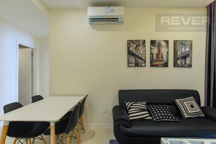 Phòng Khách Cho thuê căn hộ Masteri Millennium tầng cao, 2PN nội thất đầy đủ, có thể dọn vào ở ngay