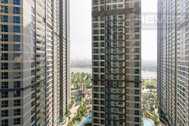 View Officetel Vinhomes Central Park 1 phòng ngủ tầng trung P7 hướng Đông Bắc
