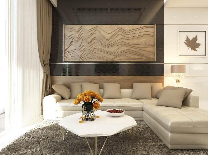 Cho thuê căn hộ Sunwah Pearl 3 phòng ngủ thuộc tầng cao, diện tích sàn 125m2, đầy đủ nội thất, miễn phí quản lý