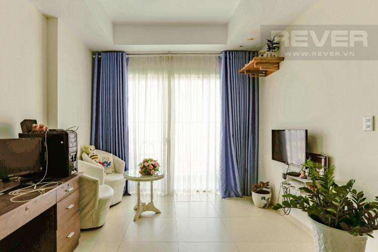Phòng Khách Căn hộ M-One Nam Sài Gòn tầng cao diện tích 62,75m2, nội thất đầy đủ.
