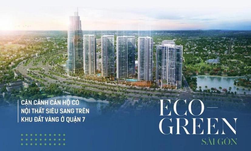 Eco Green Saigon, Quận 7 Căn hộ Eco Green Saigon tầng trung, view hồ bơi nội khu.