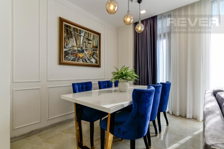 Phòng Ăn Căn hộ Vinhomes Golden River tầng cao, 3PN đầy đủ nội thất