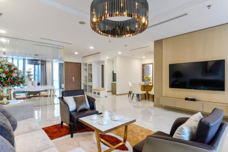 Bán căn hộ Vinhomes Central Park 3PN, tầng cao, đầy đủ nội thất, thuộc tháp Landmark 81