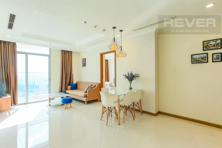Phòng Khách Căn hộ Vinhomes Central Park tầng cao L3, 3 phòng ngủ, nội thất đầy đủ