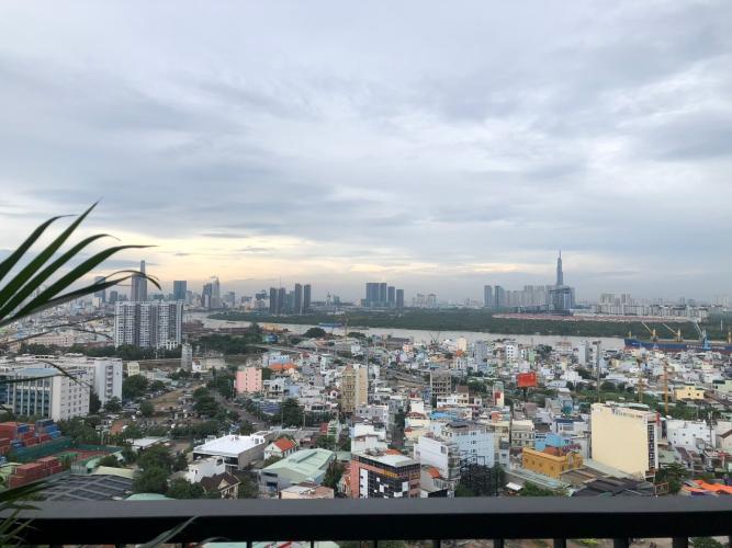 View Eco Green Saigon Căn hộ Eco Green Saigon tầng cao, view thành phố sầm uất.