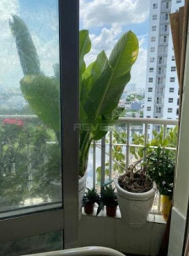 Ban công căn hộ Conic Graden, Bình Chánh. Căn hộ Conic Garden nội thất cơ bản, view tầng cao đón gió thoáng mát.
