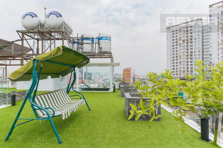 Sân Thượng Căn hộ dịch vụ 1 phòng ngủ đường Trần Quang Diệu Quận 3
