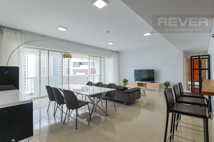 Phòng Khách Cho thuê căn hộ The Estella Residence 3PN nội thất đầy đủ, view tiện ích nội khu đẹp