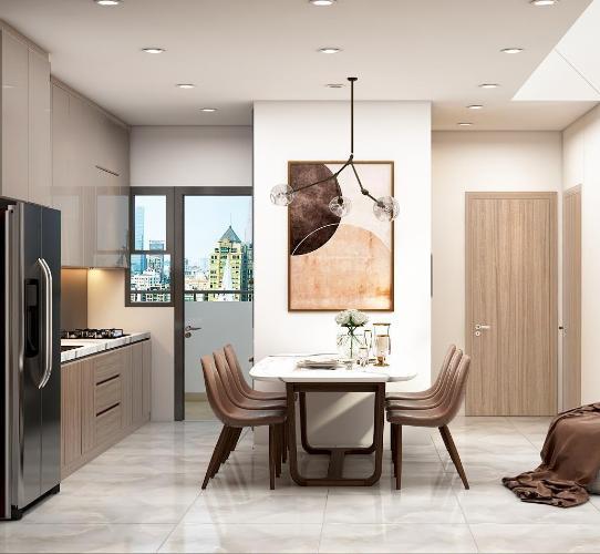 Phòng bếp căn hộ The View Riviera Point Căn hộ Riviera Point 3 phòng ngủ nội thất đầy đủ view sông.