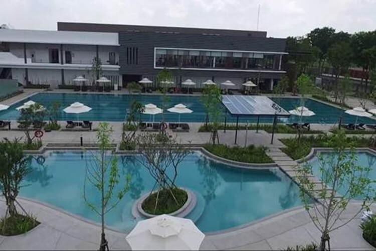 Hồ bơi Celadon City, Tân Phú Căn hộ Celadon City tầng trung, 2 ban công rộng rãi đón view mát mẻ.