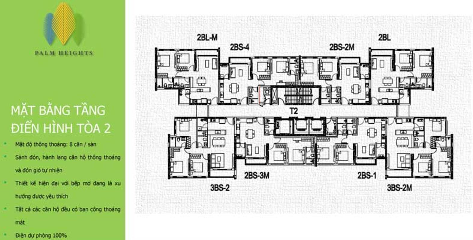 mat-bang-toa-2-chung-cu-palm-heights Bán căn hộ Palm Heights 2PN, tầng trung, diện tích 75m2, nội thất cơ bản
