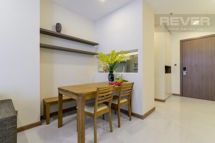 Phòng Ăn Cho thuê căn hộ Vinhomes Central Park tầng trung tháp Park 5, 2PN 2WC, đầy đủ nội thất