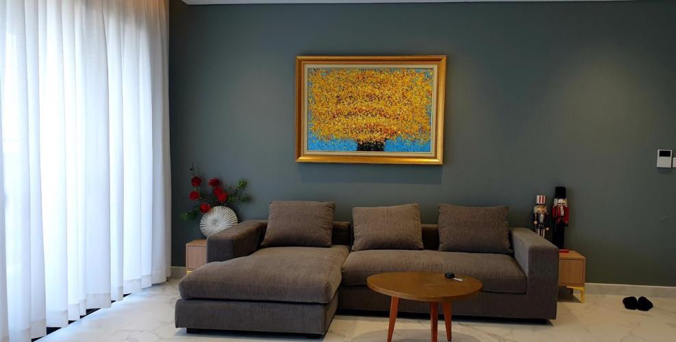 Phòng khách căn hộ Riviera Point Căn hộ Riviera Point tầng 35, view thành phố thông thoáng.