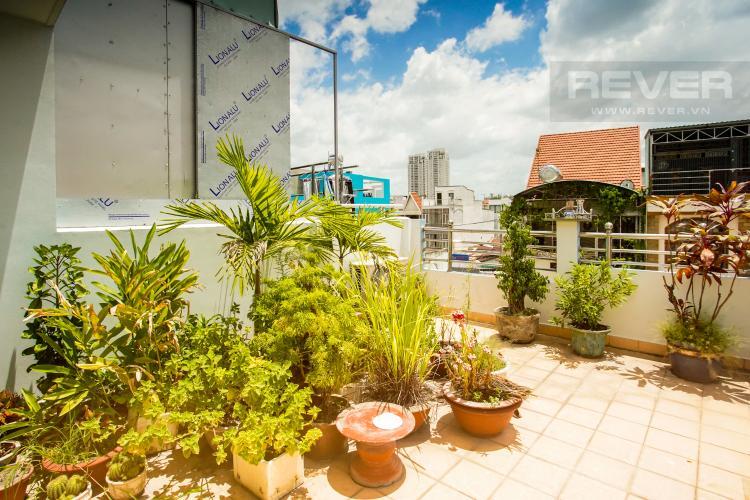 Sân Thượng Cho thuê nhà phố 3 tầng, phường Bình An, Q2, diện tích đất 92m2, đường trước nhà 2 ô tô tránh nhau