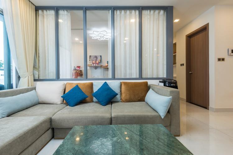 Phòng khách Vinhomes Central Park Căn hộ Vinhomes Central Park hướng Bắc, view Landmark 81.