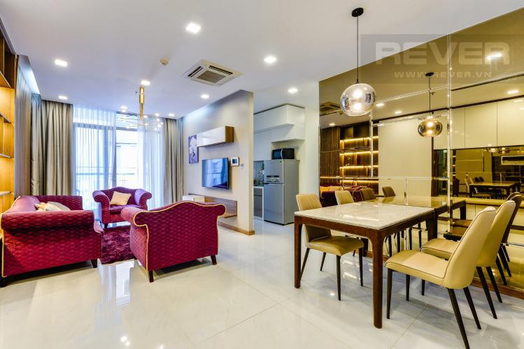 Bàn ăn Bán căn hộ Vinhomes Central Park giá tốt, 2PN, đầy đủ nội thất