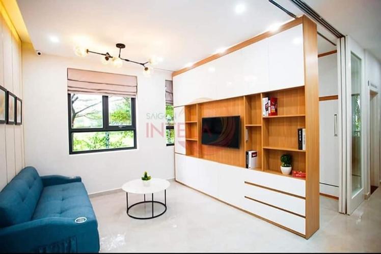 Phòng khách Saigon Intela, Bình Chánh Căn hộ Saigon Intela tầng trung thoáng mát, đầy đủ nội thất tiện nghi.
