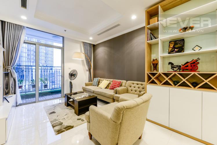 Phòng khách Căn hộ Vinhomes Central Park 2 phòng ngủ tầng thấp L1 hướng Bắc