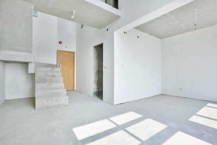 Phòng Khách Duplex Vista Verde 2 phòng ngủ tầng thấp tòa T1 giao thô