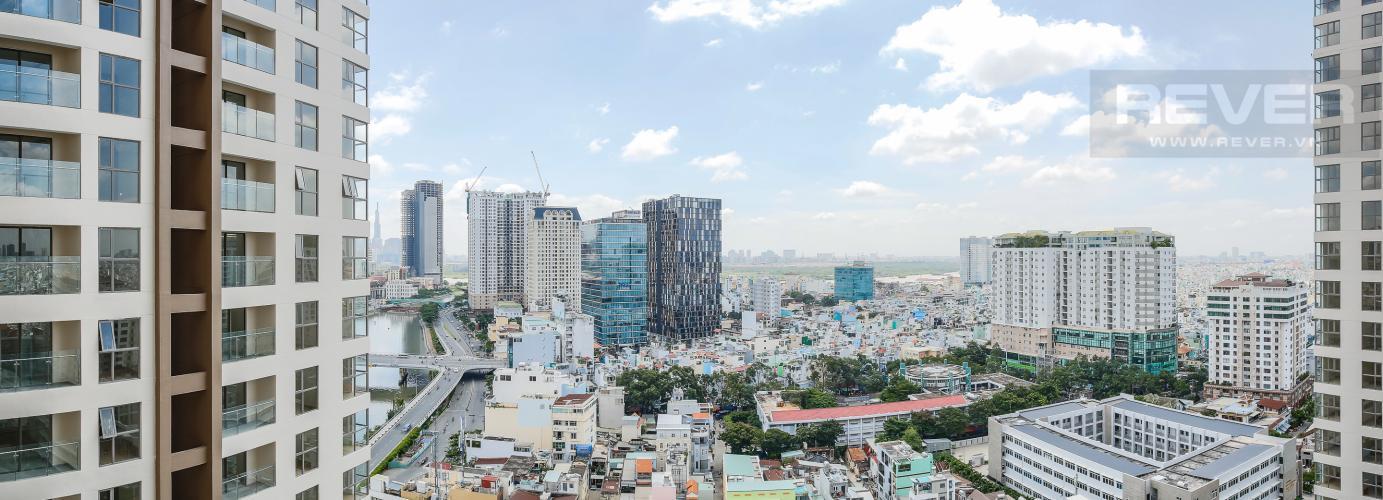 View Căn hộ Masteri Millennium tầng cao, tháp A, 2 phòng ngủ, nội thất cơ bản