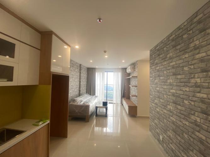 Phòng khách căn hộ Vinhomes Grand Park Căn hộ Vinhomes Grand Park tầng 24 nội thất đầy đủ, 3 phòng ngủ.