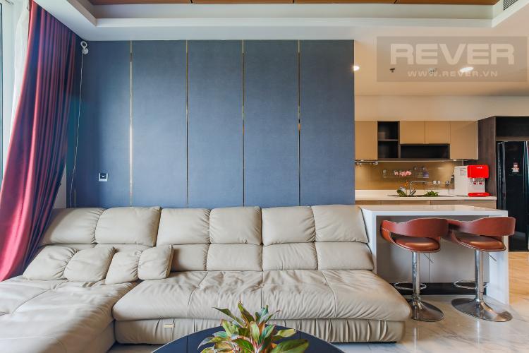 Phòng Khách Cho thuê căn hộ Sarica Sala Đại Quang Minh 3PN, đầy đủ nội thất, view công viên mát mẻ