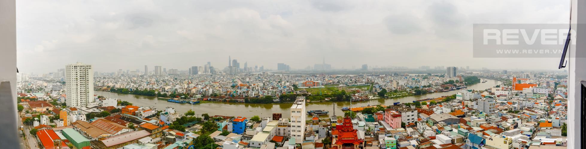 View Căn hộ M-One Nam Sài Gòn 2 phòng ngủ tầng trung T1 view sông