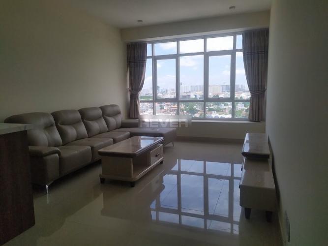 Phòng khách căn hộ Ngọc Phương Nam, Quận 8 Căn hộ Ngọc Phương Nam tầng 8, view thành phố sầm uất.