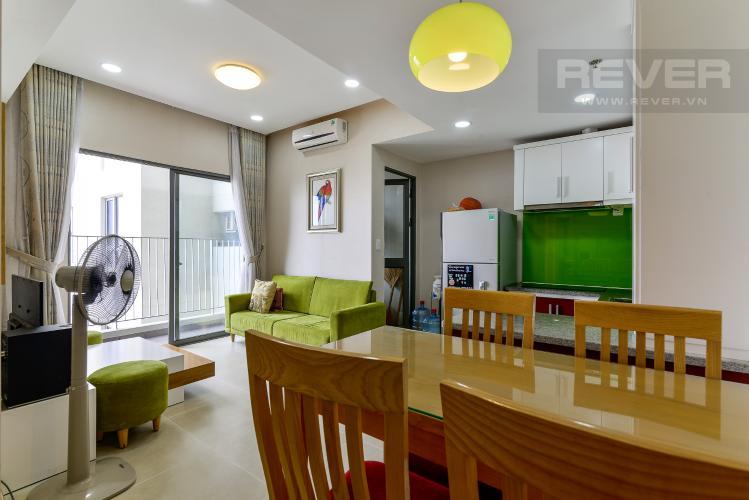 Phòng Khách Cho thuê căn hộ Masteri Thảo Điền 2PN, tầng cao, đầy đủ nội thất, view khu dân cư rộng lớn