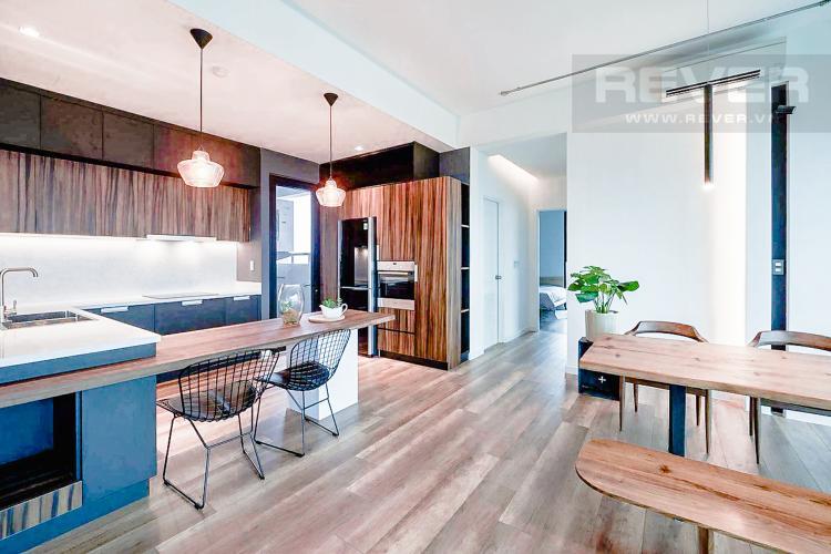 Phòng Bếp và Phòng Ăn Bán căn hộ The Ascent tầng trung, 2PN, nội thất đầy đủ