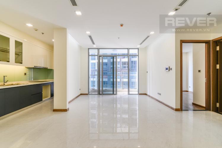 Phòng Khách Căn hộ Vinhomes Central Park tầng thấp, tháp Park 2, 2PN, view hồ bơi