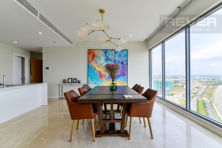 Phòng Ăn Cho thuê căn hộ Diamond Island - Đảo Kim Cương 3PN, tầng cao, đầy đủ nội thất, view sông yên tĩnh