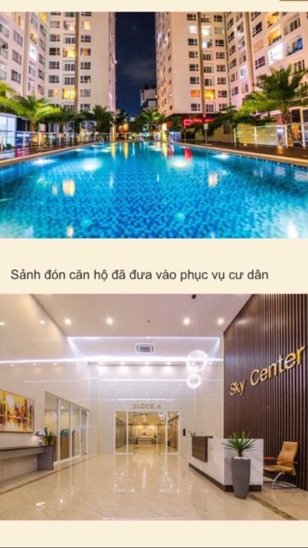 IMG_7432 Cho thuê căn hộ Sky Center Tân Bình 2PN, diện tích 75m2, ban công hướng Bắc thông thoáng