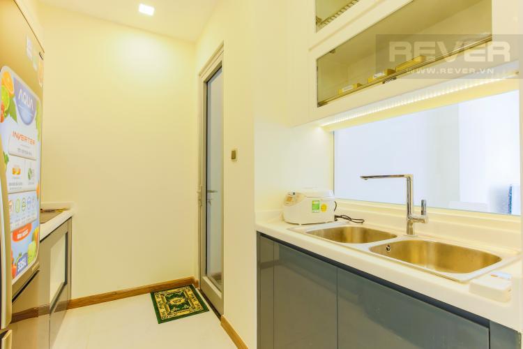 Phòng Bếp Căn hộ Vinhomes Central Park tầng cao Park 5 nội thất đẹp, view sông