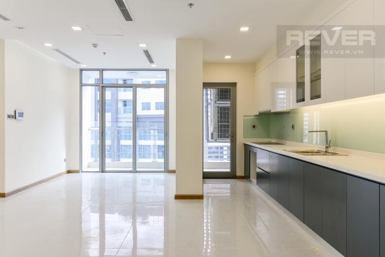 Phòng khách Căn hộ Vinhomes Central Park tầng cao P2, 3 phòng ngủ, view sông