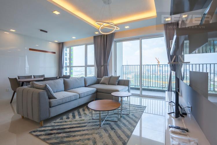 Phòng Khách Căn góc Vista Verde 3 phòng ngủ tầng trung T2 đầy đủ nội thất