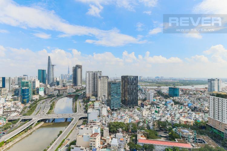 View Cho thuê căn hộ Masteri Millennium tầng cao, 2PN, đầy đủ nội thất, view sông