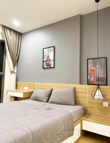 phòng khách Masteri Millennium Căn hộ Masteri Millennium đầy đủ nội thất, view sông và thành phố.