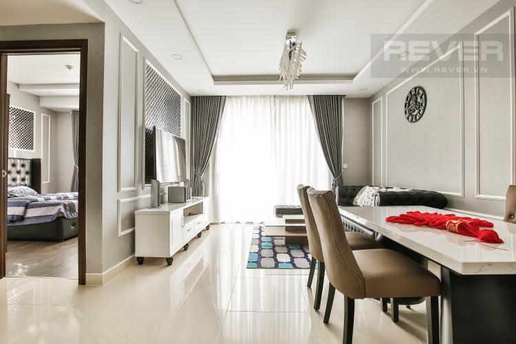 Phòng Khách Căn hộ The Tresor 2 phòng ngủ tầng trung TS1 view sông
