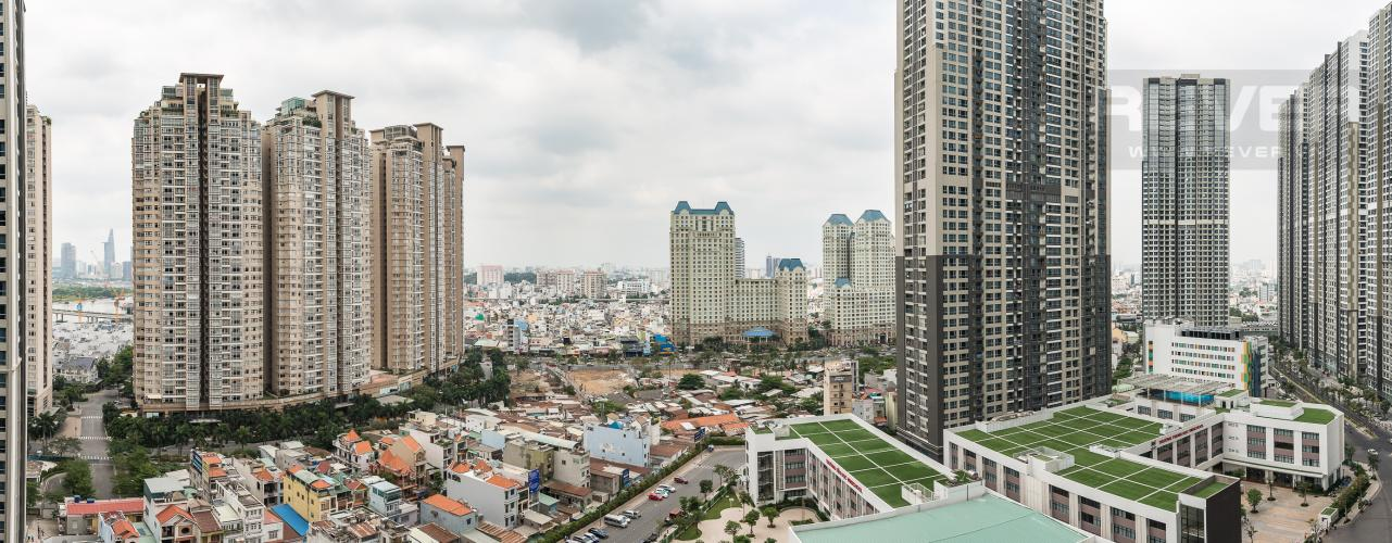 View Officetel Vinhomes Central Park 2 phòng ngủ tầng trung P7 nhà trống