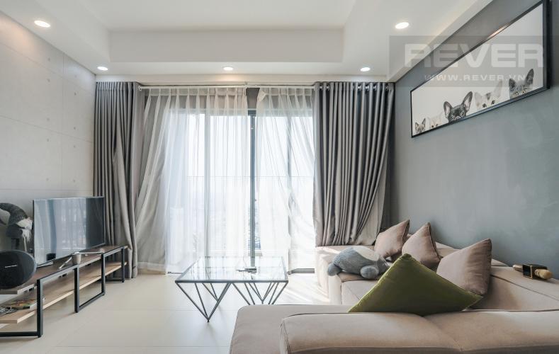 Phòng Khách Căn hộ M-One Nam Sài Gòn tầng cao 3PN nội thất đầy đủ, có ban công