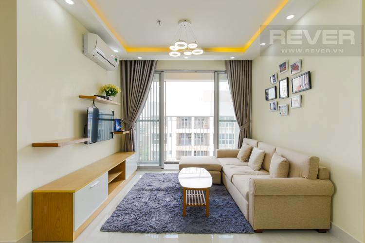 Phòng Khách Căn hộ Scenic Valley tầng cao tháp G thiết kế hiện đại, đầy đủ tiện nghi