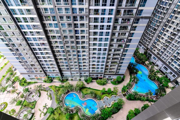 View Căn hộ Vinhomes Central Park 2 phòng ngủ tầng trung P3 view sông