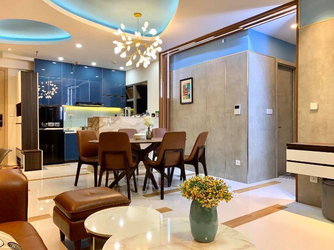Phòng khách và phòng ăn căn hộ Palm Heights Cho thuê căn hộ Palm Heights 3 phòng ngủ, diện tích sử dụng 105m2, đầy đủ nội thất cao cấp