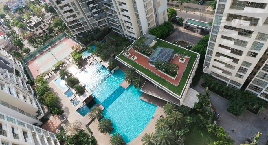 View Căn hộ The Estella Residence 3 phòng ngủ tầng trung 1A view nội khu