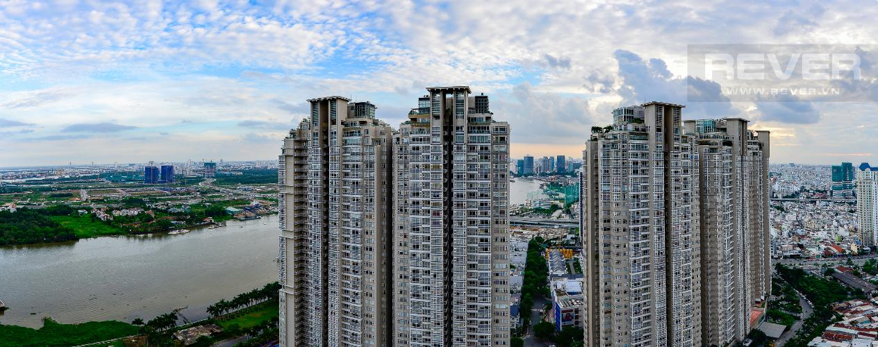 View Căn hộ The Central Vinhomes Central Park tầng cao hướng Đông Nam tháp C2