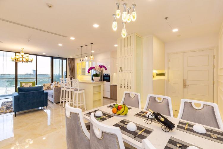 Cho thuê căn hộ Vinhomes Golden River 3PN, diện tích 118m2, đầy đủ nội thất, view sông và Bitexco