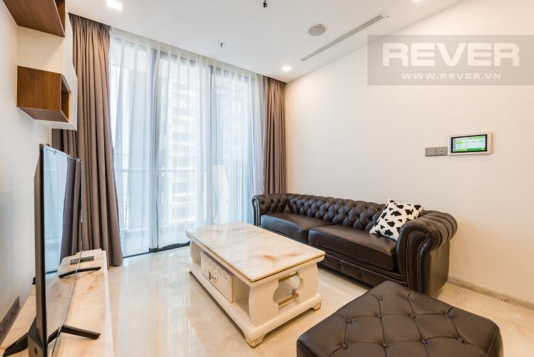 Phòng khách Căn hộ Vinhomes Golden River tầng cao, tháp The Aqua 2, 1PN, nội thất đầy đủ